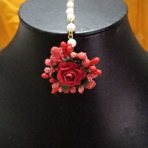 buy red floral maangtikka for indian wedding