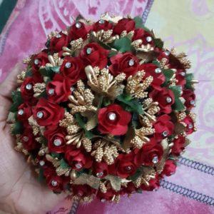 buy floral hair bun for bride