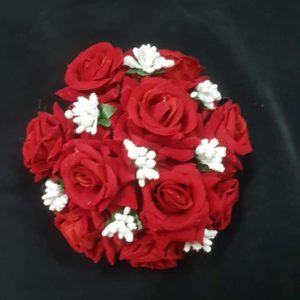 buy red rose hair accessory online