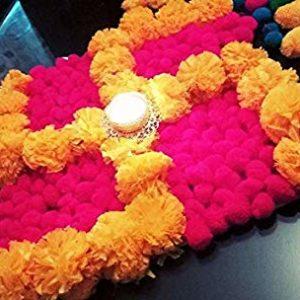 buy marigold rangoli mat online