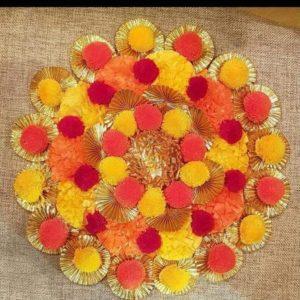 buy rangoli mat for wedding functions