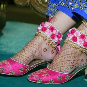 buy floral anklet for bride