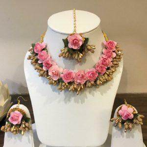 buy online floral neck set for mehndi