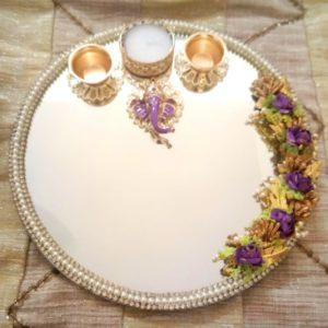 round thali for pooja