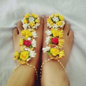 buy anklet or floral feet jewellery