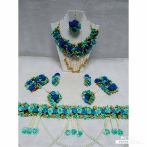 blue floral jewellery online