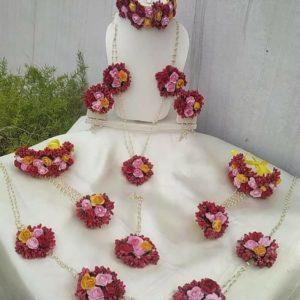 red floral set for wedding