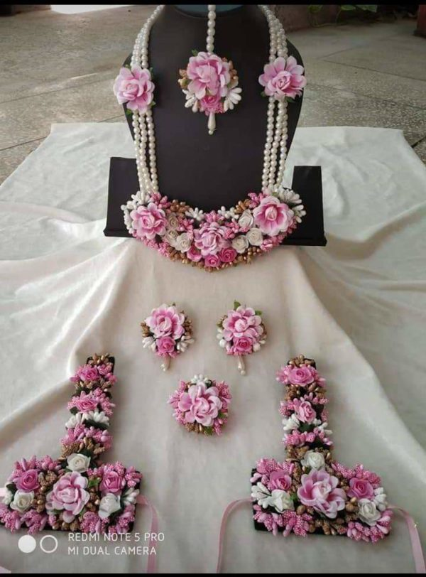 full bridal floral jewellery set online