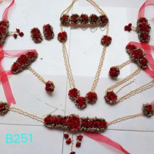 buy beautiful floral set for bride