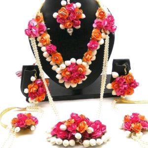 long floral set for bride
